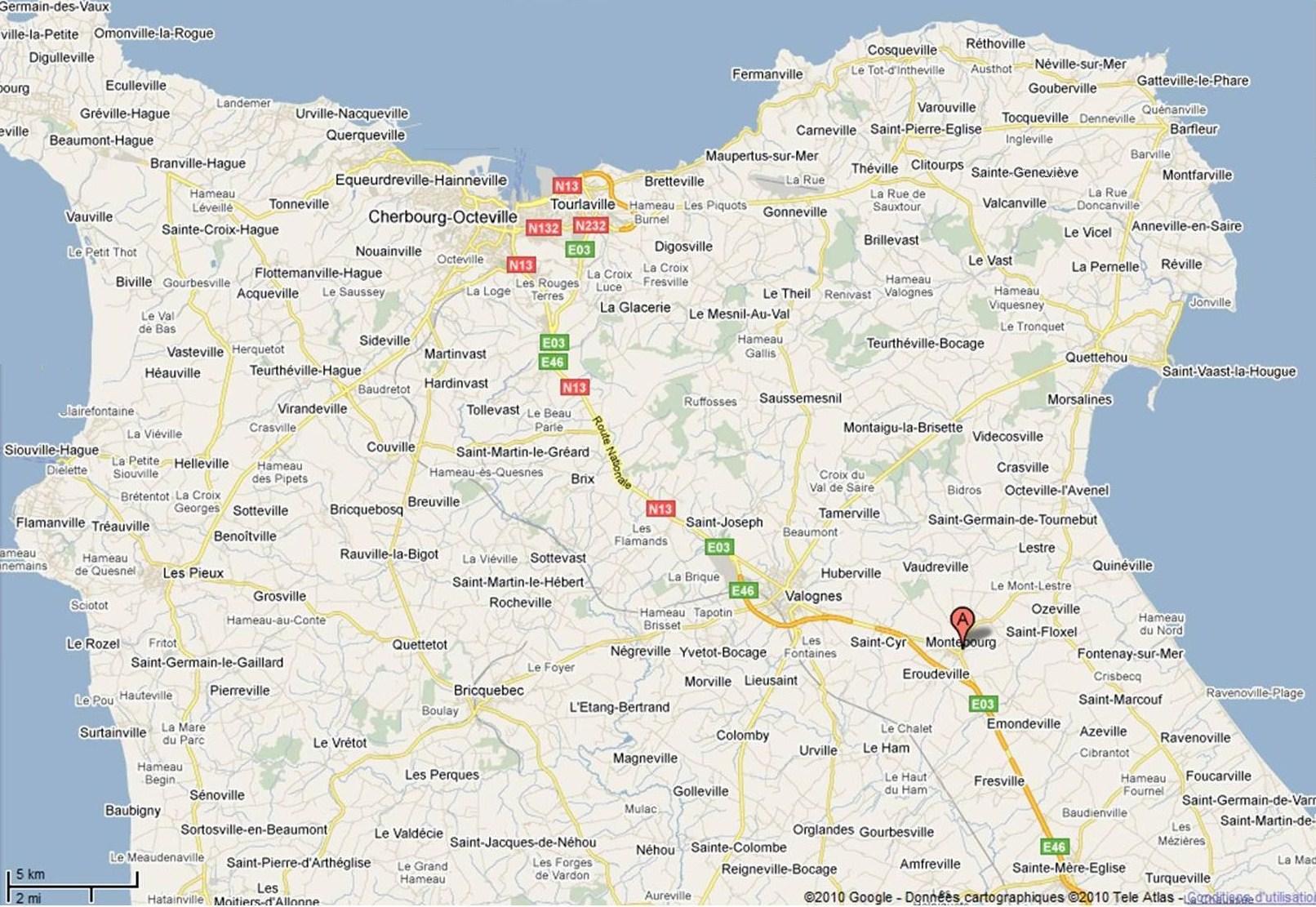 carte du cotentin détaillée Préparer sa visite | Montebourg en Normandie